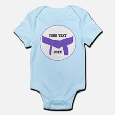 Custom Martial Arts Purple Belt Infant Bodysuit