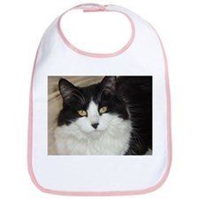 Black and White Cat Bib