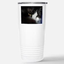 Black and White Cat Stainless Steel Travel Mug