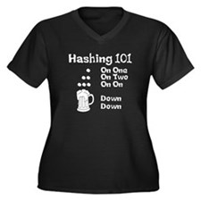 Hashing Dots Women's Plus Size V-Neck Dark T-Shirt