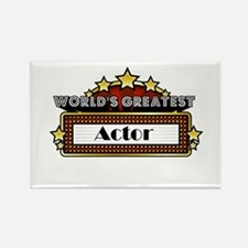World's Greatest Actor Rectangle Magnet