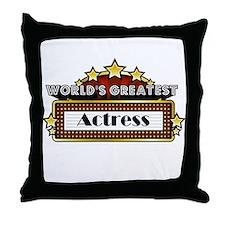 World's Greatest Actress Throw Pillow