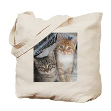 Orange and Gray Tabby Kitty Cats Tote Bag