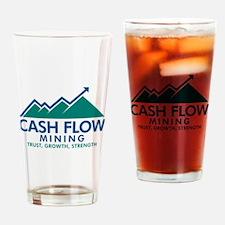 Cash Flow Mining Drinking Glass