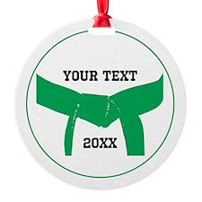 Custom Martial Arts Green Belt Ornament