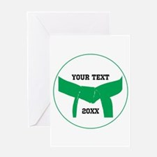 Custom Martial Arts Green Belt Greeting Card