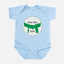 Custom Martial Arts Green Belt Infant Bodysuit