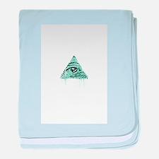 Illuminati Pyramid Eye baby blanket