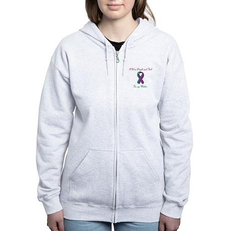 Purple and Teal Mother Women's Zip Hoodie