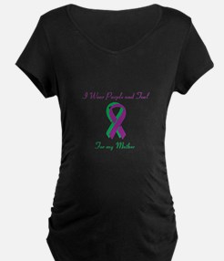 Purple and Teal Mother T-Shirt