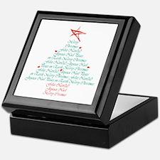 happy holiday tree Keepsake Box