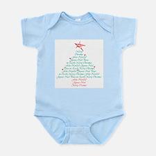happy holiday tree Infant Creeper