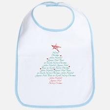 happy holiday tree Bib