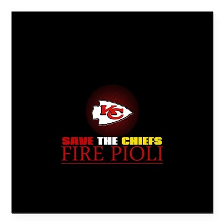 """Save the Chiefs - Fire Pioli Square Car Magnet 3"""""""