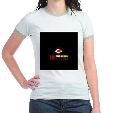 Save the Chiefs - Fire Pioli Jr. Ringer T-Shirt