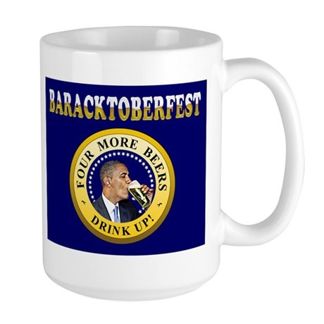 Oktoberfest Is Baracktoberfest Large Mug