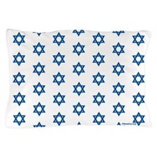 Mogen David (med blue on white) Matching Stars Pil