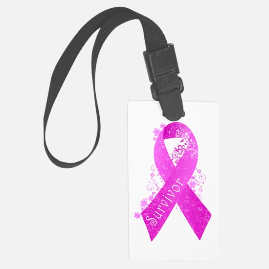 Breast Cancer Survivor Luggage Tag