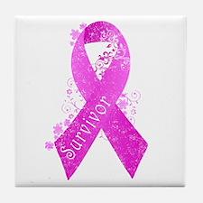 Breast Cancer Survivor Tile Coaster