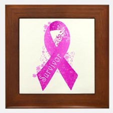 Breast Cancer Survivor Framed Tile