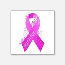 "Breast Cancer Survivor Square Sticker 3"" x 3"""