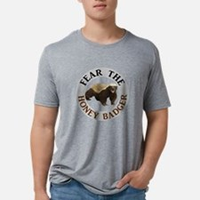 Honey Badger Fear Mens Tri-blend T-Shirt