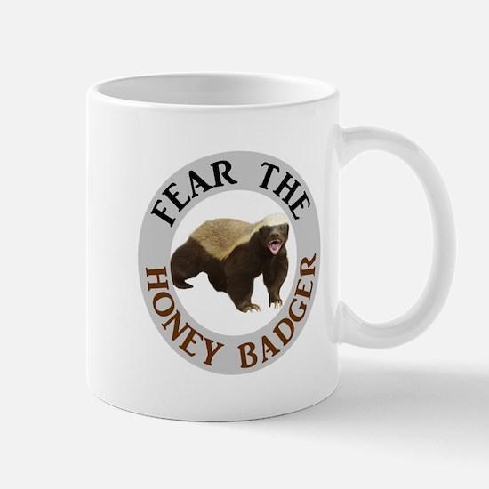 Honey Badger Fear Small Mugs