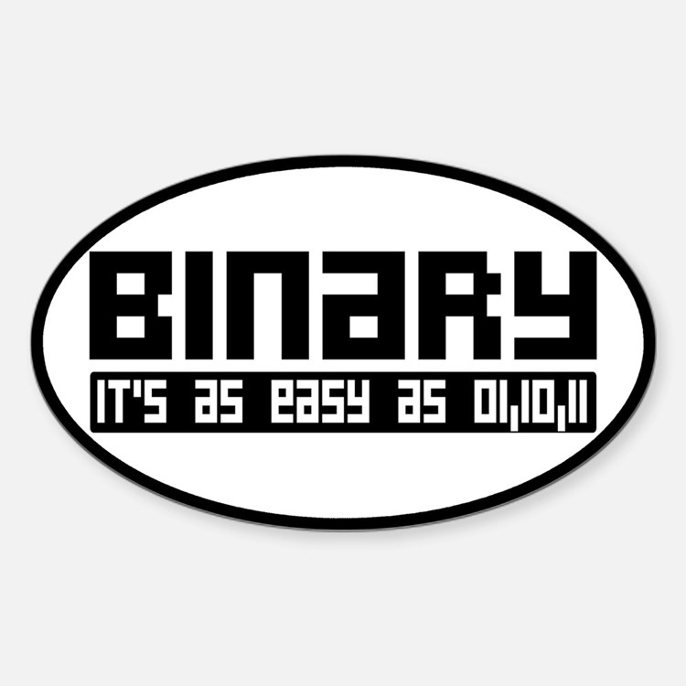 Binary Is Easy Decal