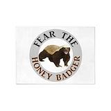 Honey badger 5x7 Rugs