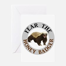 Honey Badger Fear Greeting Card