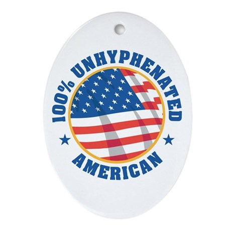 unhyphenated american Oval Ornament