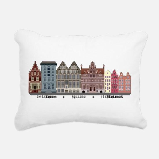 Amsterdam Holland Rectangular Canvas Pillow