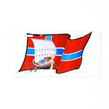 Norwegian Viking Ship Aluminum License Plate