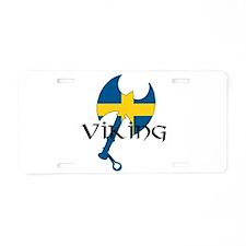 Swedish Viking Aluminum License Plate