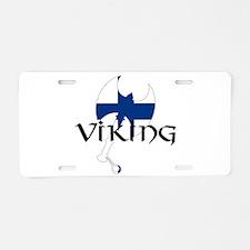 Finland Viking Aluminum License Plate