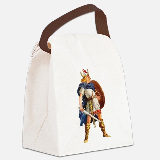 Scandinavian Viking Canvas Lunch Bag