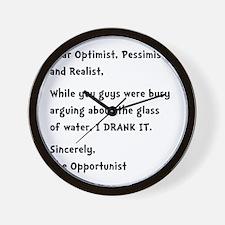 Opportunist Wall Clock