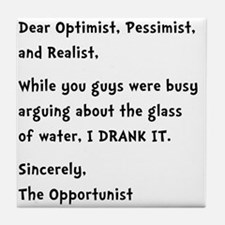 Opportunist Tile Coaster