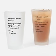 Opportunist Drinking Glass