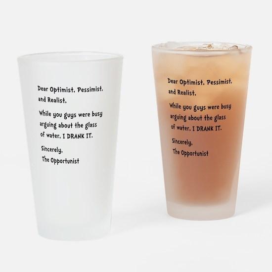 Opportunist Drinking Glass