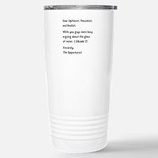 Opportunist Stainless Steel Travel Mug