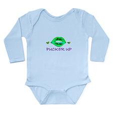 Pucker Up Long Sleeve Infant Bodysuit