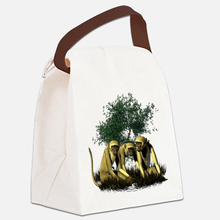 Monkeys.png Canvas Lunch Bag