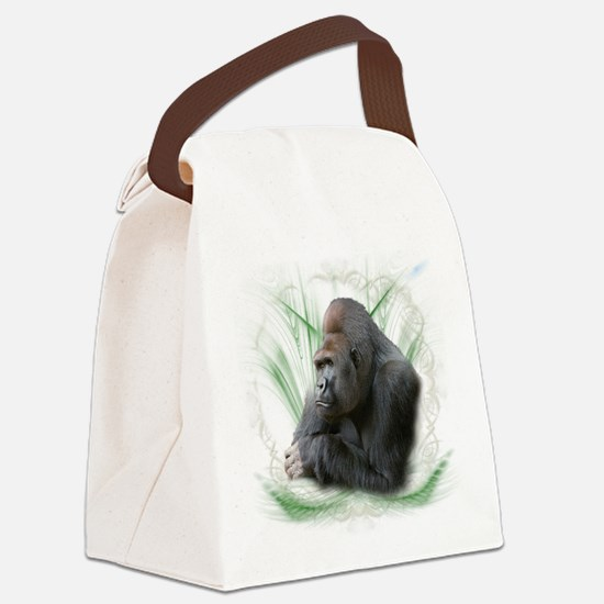 gorilla1.png Canvas Lunch Bag