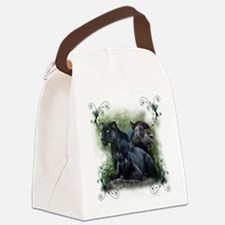 3-black jaguar.png Canvas Lunch Bag