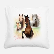 Horses.png Square Canvas Pillow