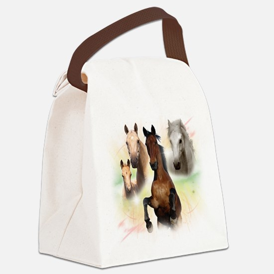 Horses.png Canvas Lunch Bag