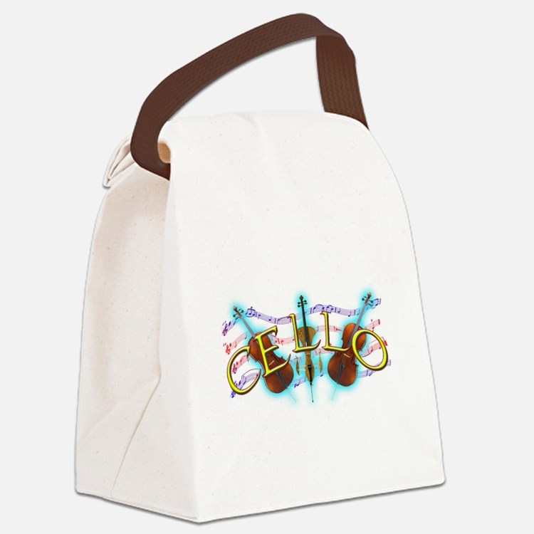 cello.png Canvas Lunch Bag