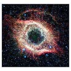 Helix nebula, infrared Spitzer image Poster