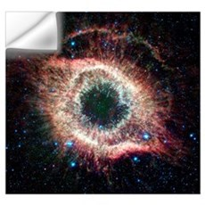 Helix nebula, infrared Spitzer image Wall Decal